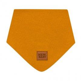 New Baby Kojenecký bavlněný šátek na krk New Baby Favorite hnědý M