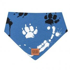 New Baby Kojenecký bavlněný šátek na krk New Baby Paw modrý S