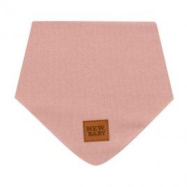 New Baby Kojenecký bavlněný šátek na krk New Baby Favorite růžový S