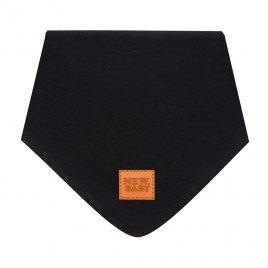New Baby Kojenecký bavlněný šátek na krk New Baby Favorite černý M