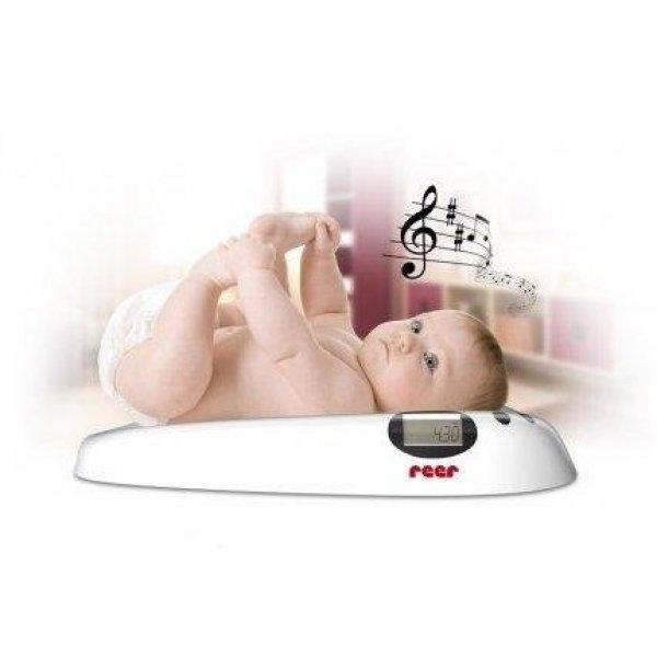 Reer Dětská digitální váha s melodií Bílá