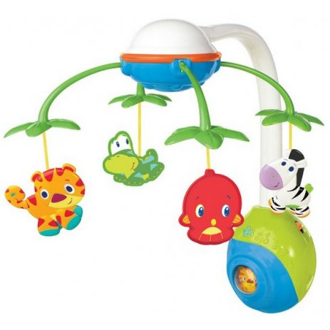 Bright Starts Kolotoč na postýlku SOOTHING SAFARI 2in1 1 MOBILE™, 0-5m Multicolor