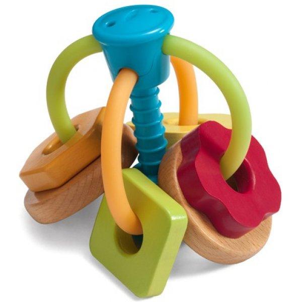 Infantino GAGA Chrastítko dřevo/plast Zelená