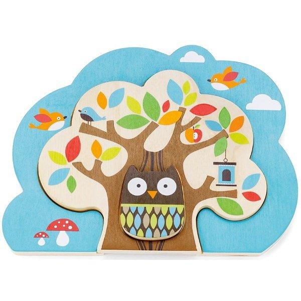 Skip Hop Puzzle Kamarádi ze stromu - dřevo Modrá