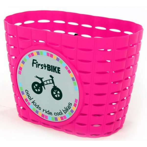 FirstBike Košík na řídítka Růžový