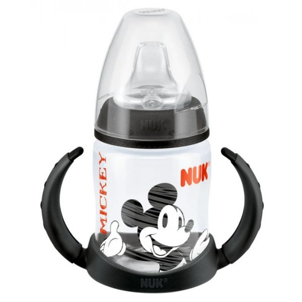 NUK FC LÁHEV PP - na učení, 150 ml, pítko-silikon, Disney Mickey Černá