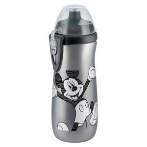 NUK FC LÁHEV Sports Cup, Disney - Mickey 450 ml, SI push-pull pítko Šedá