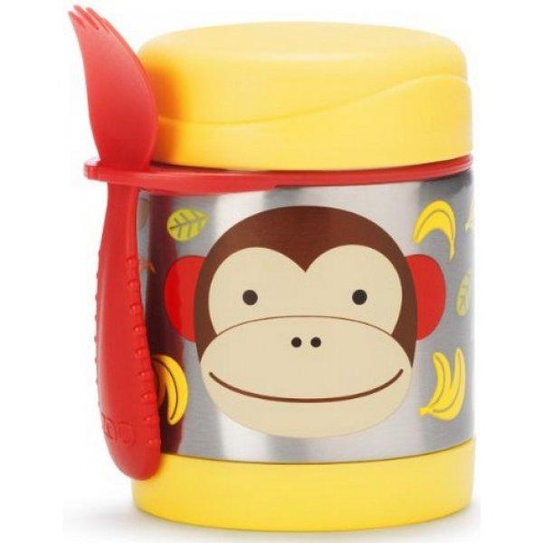 Skip Hop Zoo Termoska na jídlo se lžičko/vidličkou 325ml, 12m+ Opička