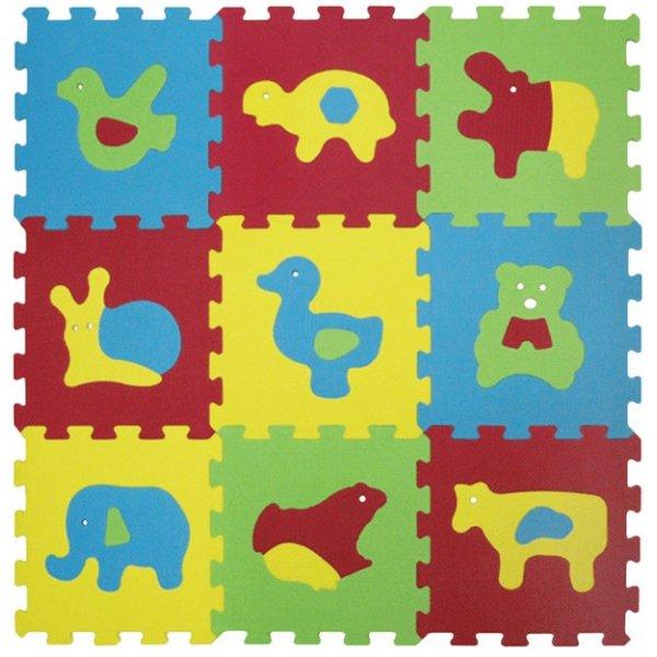 Ludi Puzzle pěnové 84x84 cm, zvířátka