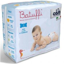 Cam Jednorázové pleny BATUFFI 3-6 Kg 21 Ks