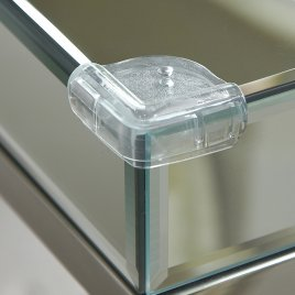 Clippasafe Plastová ochrana skleněných rohů 4ks