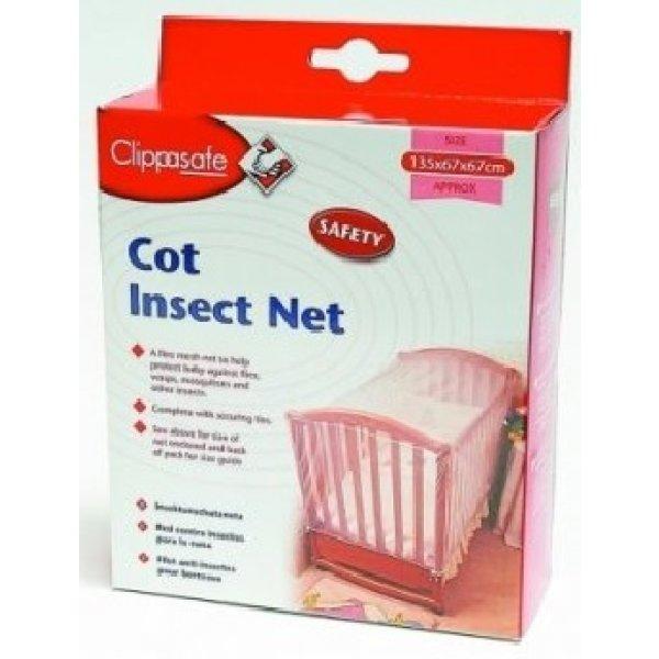 Clippasafe Síť proti hmyzu na postýlku Bílá