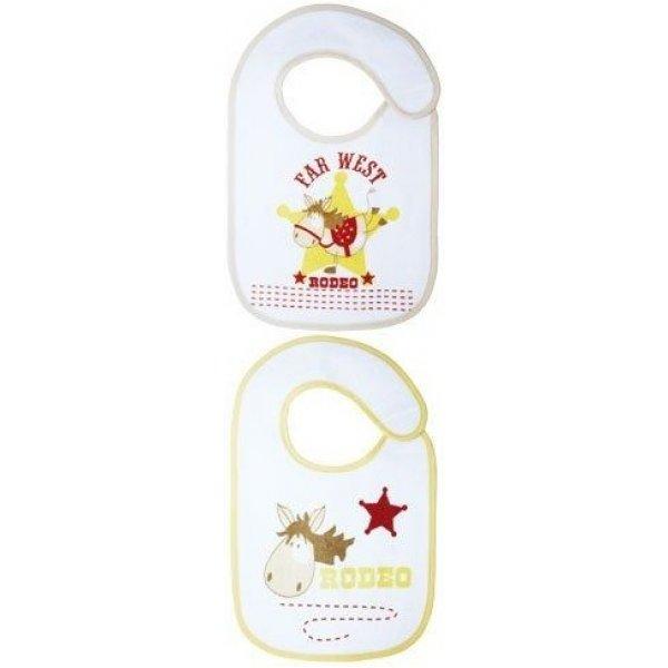 Babycalin Set 2 kojeneckých slintáčků/bryndáčků Rodeo