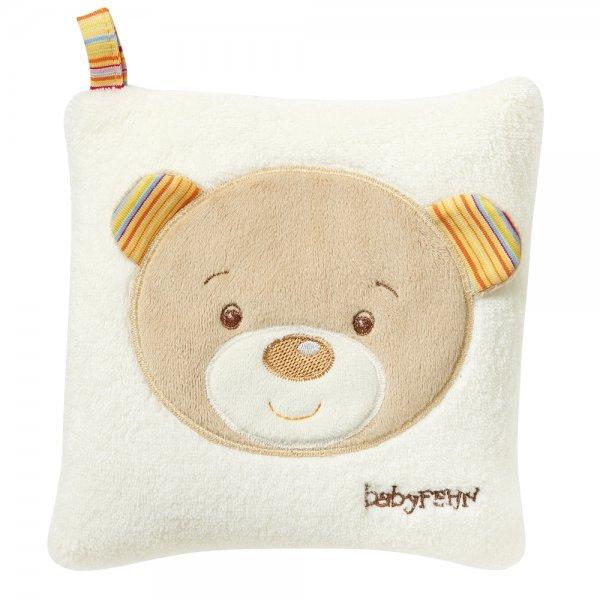 Baby Fehn Rainbow polštářek třešeň medvídek Bílá