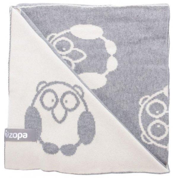 Zopa Dětská deka Little Owl Grey
