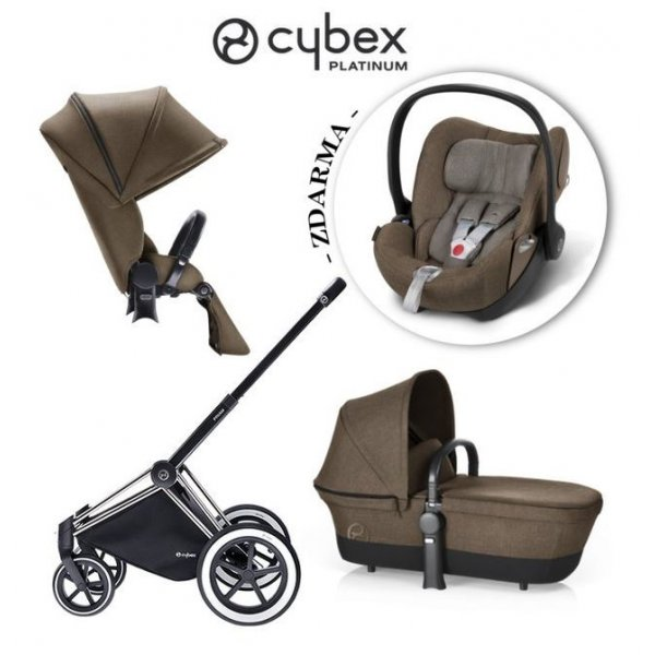 Cybex SET PRIAM ALL TERRAIN + ZDARMA CLOUD Q PLUS sada 2017 CASHMERE  BEIGE