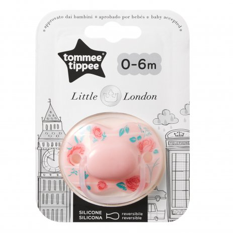 Tommee Tippee Šidítko C2N silikon Little London 0-6m Girl