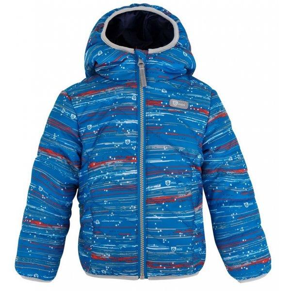 Gmini GORAN - bunda s kapucí Modrá potisk