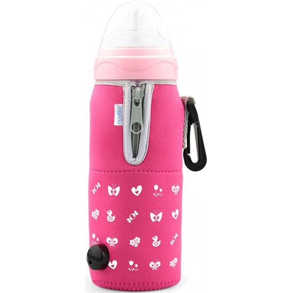 Nuvita Cestovní ohřívač lahve se zipem Růžová