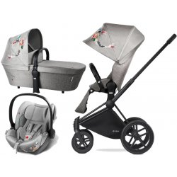 Cybex Kočárek Set Priam All Terrain Matt Black Seat Lux Fashion 2018 Koi Crystallized