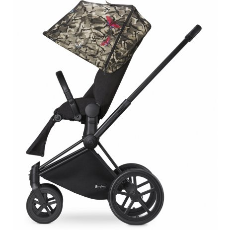 Cybex Kočárek Set Priam All Terrain Matt Black Seat Lux Fashion 2018 Butterfly