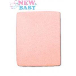 New Baby Nepromokavé prostěradlo New Baby 120x60 růžové
