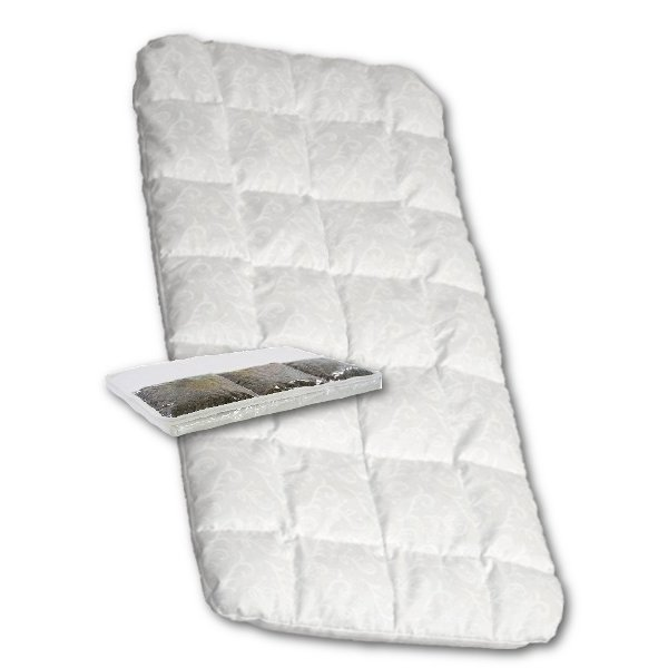 DANPOL Dětská matrace do kočárku New Baby 75x35 molitan-pohanka bílá Bílá