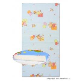 New Baby Dětská pěnová matrace New Baby 120x60 modrá - různé obrázky
