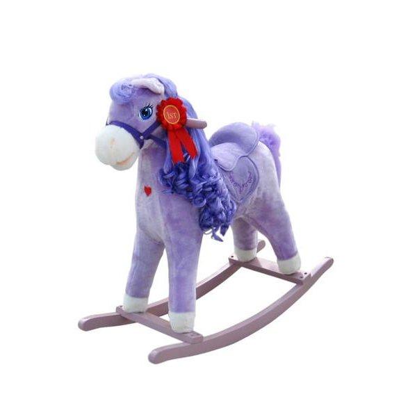 Milly Mally Houpací koník s melodií Milly Mally Princess violet Fialová