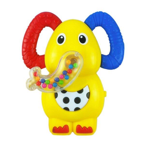 Baby Mix Dětské chrastítko se zvukem Baby Mix sloník Žlutá