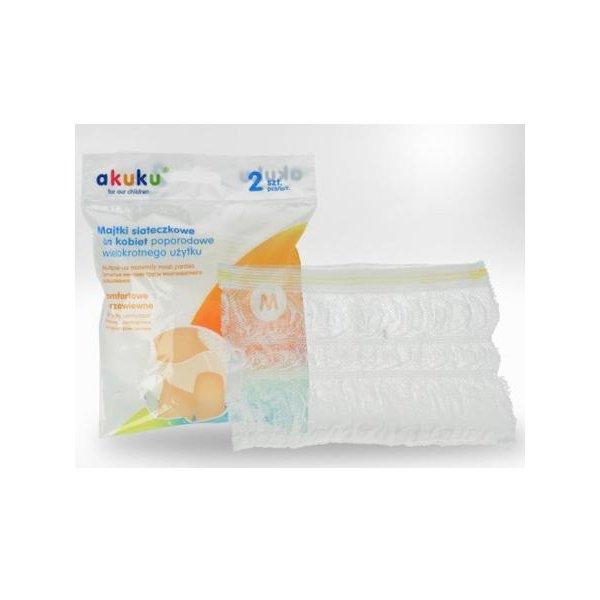 Akuku Poporodní kalhotky Akuku pro opakované použití vel.XL Bílá