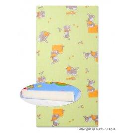 New Baby Dětská pěnová matrace New Baby 120x60 zelená - různé obrázky
