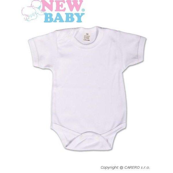 New Baby Body krátký rukáv New Baby Classic Bílá