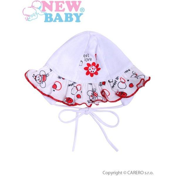 New Baby Kojenecká čepička New Baby Beruška Bílá
