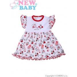 New Baby Kojenecké šaty New Baby Beruška