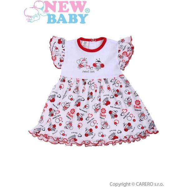 New Baby Kojenecké šaty New Baby Beruška Bílá