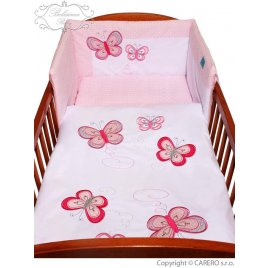 Belisima 5-dílné ložní povlečení Belisima Motýlek 90/120 růžové