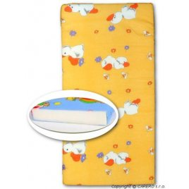 New Baby Dětská pěnová matrace New Baby 120x60 oranžová - různé obrázky