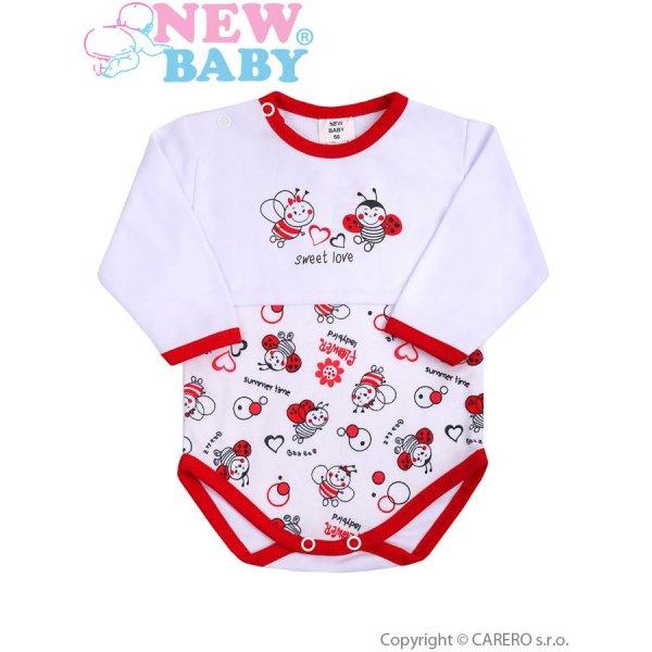 New Baby Kojenecké body s dlouhým rukávem New Baby Beruška Bílá