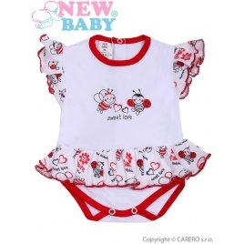 New Baby Kojenecké body s krátkým rukávem a volánkem New Baby Beruška