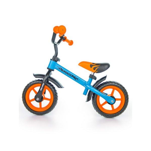 Milly Mally Dětské odrážedlo kolo Milly Mally Dragon orange-blue Oranžová
