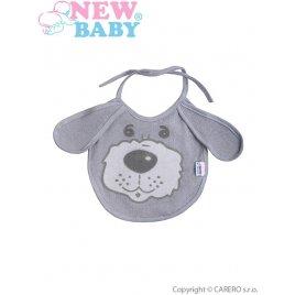 New Baby Dětský bryndák New Baby šedý