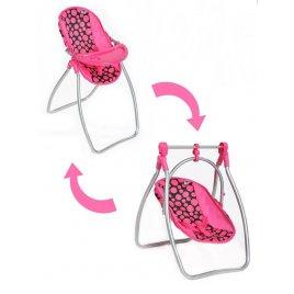 Playto Jídelní židlička a houpačka 2v1 pro panenky PlayTo Isabella
