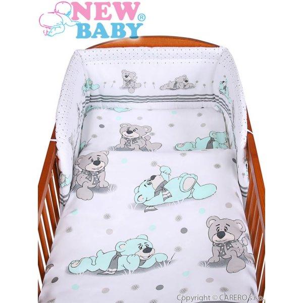 New Baby 3-dílné ložní povlečení New Baby 90/120 cm šedý medvídek Šedá