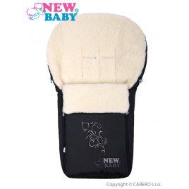 New Baby Luxusní fusák s ovčím rounem New Baby černý