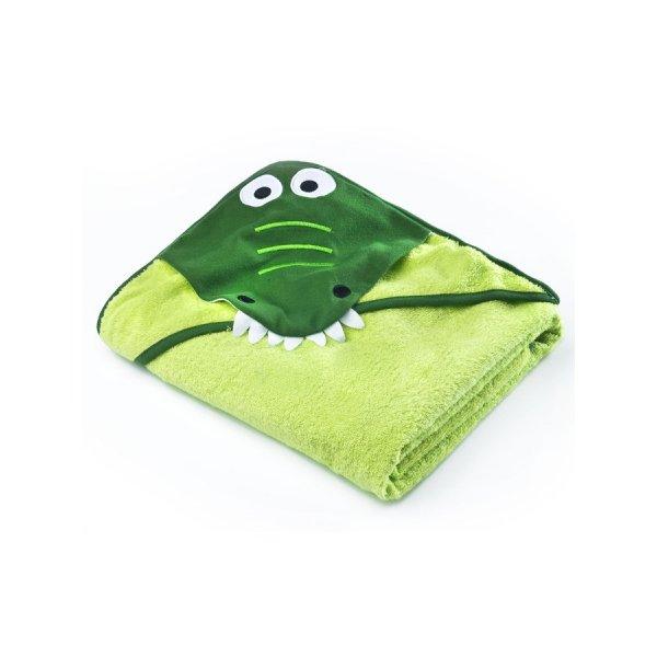 Sensillo Dětská osuška Sensillo Water Friends 100x100 cm green crocodile Zelená