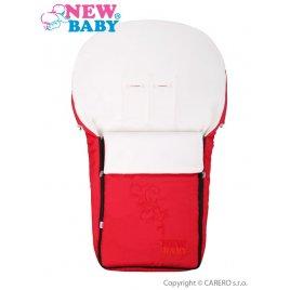 New Baby Luxusní fleecový fusák New Baby červený