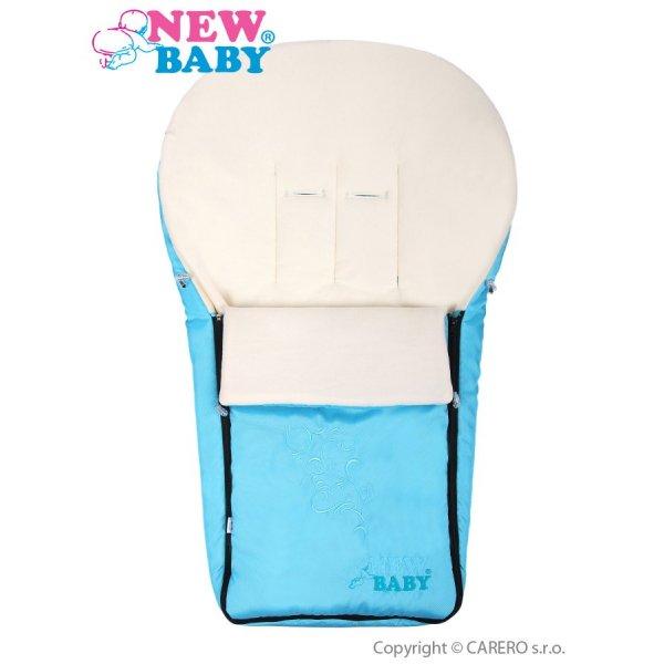 New Baby Luxusní fleecový fusák New Baby tyrkysový Tyrkysová
