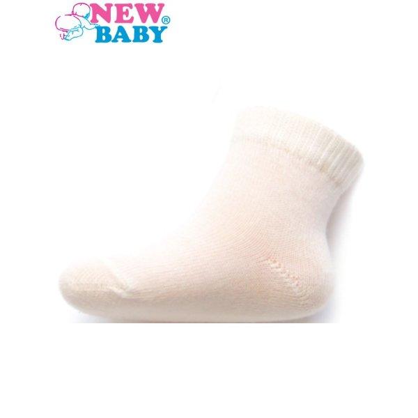 New Baby Kojenecké bavlněné ponožky New Baby bílé Bílá