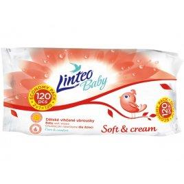Linteo Dětské vlhčené ubrousky Linteo Baby 120 ks Soft and cream
